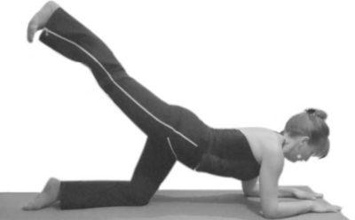 дыхательная гимнастика бодифлекс - оттягивание ноги назад