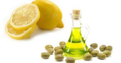 эффективная в домашних условиях - лимон и оливковое масло