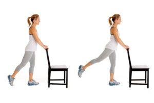 остеоартроз тазобедренного сустава - махи ногами назад