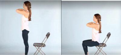 остеоартроз тазобедренного сустава - подъемы со стула