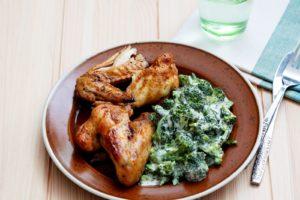диета кето - меню из куриных крылышек