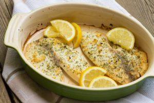 диета кето - меню с рыбой запеченой с лимоном