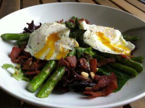 яичница овощи бекон - кето диета меню на неделю