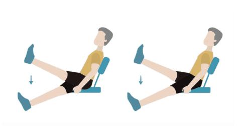 Подъемы вытянутых ног
