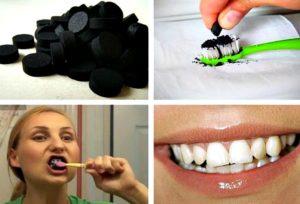 отбелить зубы активированным углем
