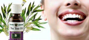 отбелить зубы маслом чайного дерева