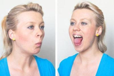 второе упражнение - откройте рот