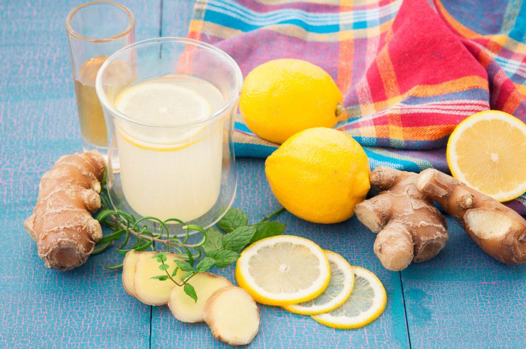 Напиток с имбирем и лимоном перед сном - польза, противопоказания